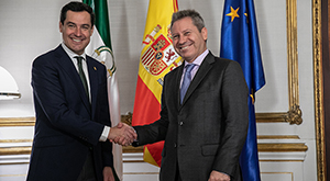 Presidente andaluz junto al presidente de Airbus